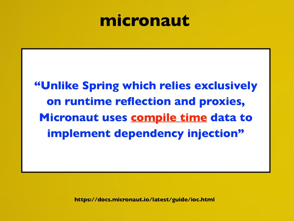 """Unlike Spring which relies exclusively on runt..."