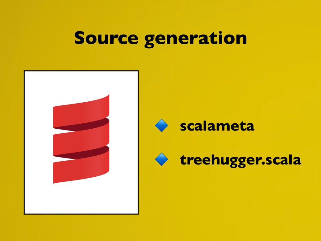 scalameta treehugger.scala Source generation