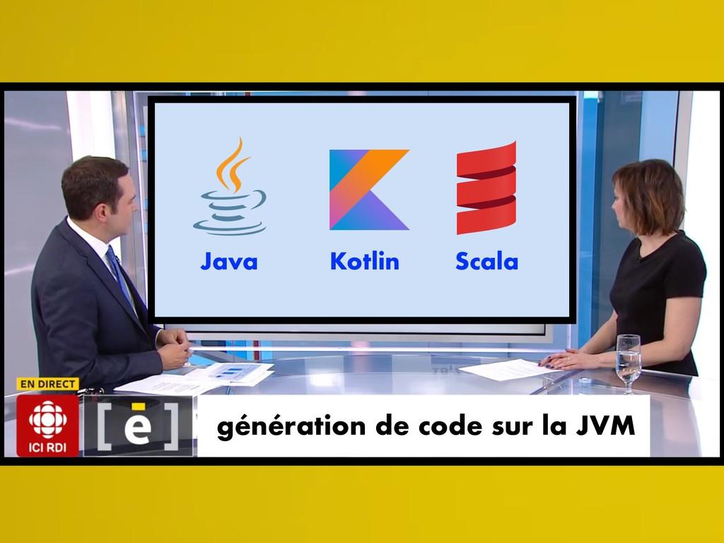 génération de code sur la JVM Java Kotlin Scala