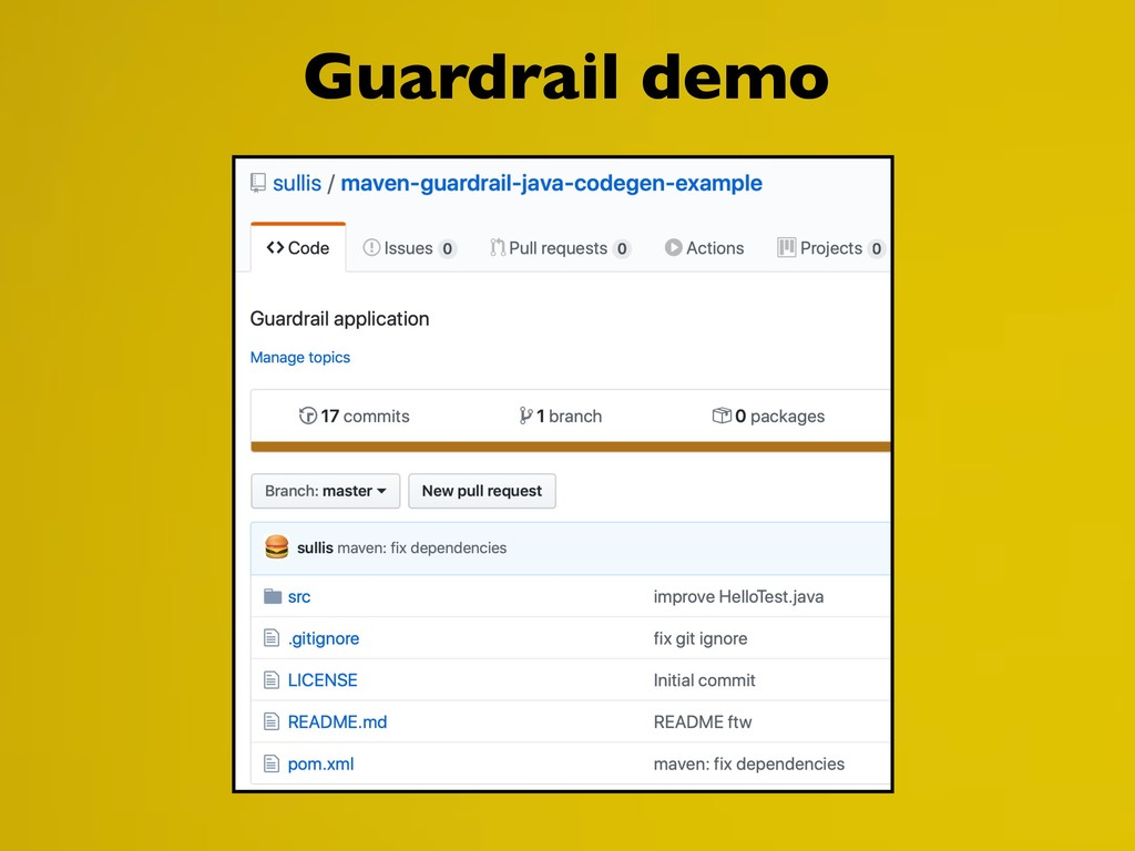 Guardrail demo