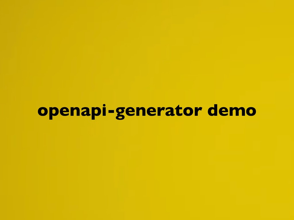 openapi-generator demo