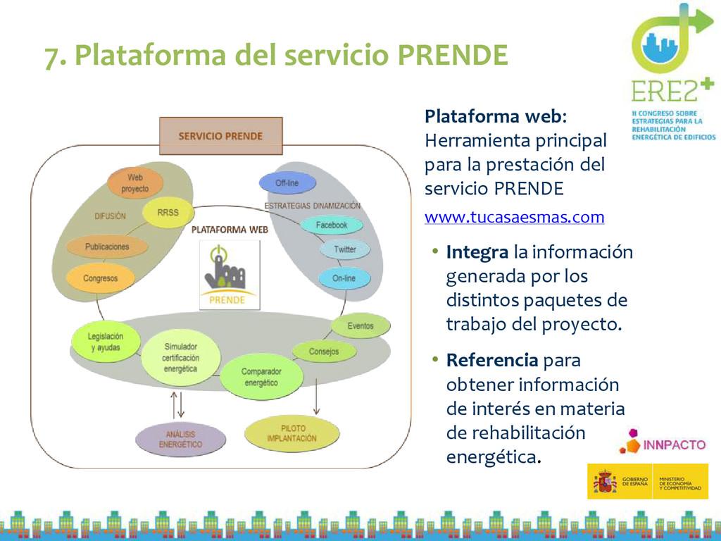 7. Plataforma del servicio PRENDE Plataforma we...