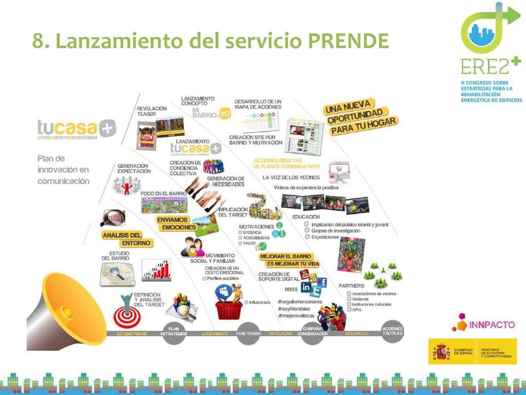 8. Lanzamiento del servicio PRENDE