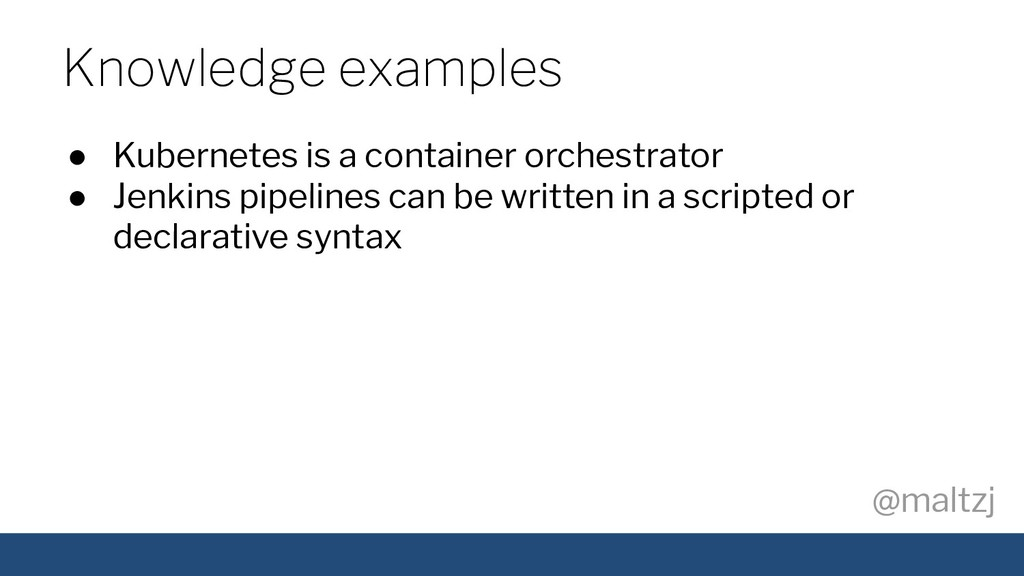 @maltzj ● Kubernetes is a container orchestrato...