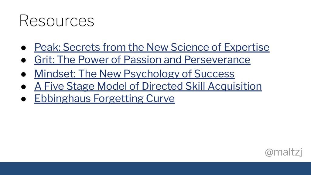 @maltzj ● Peak: Secrets from the New Science of...