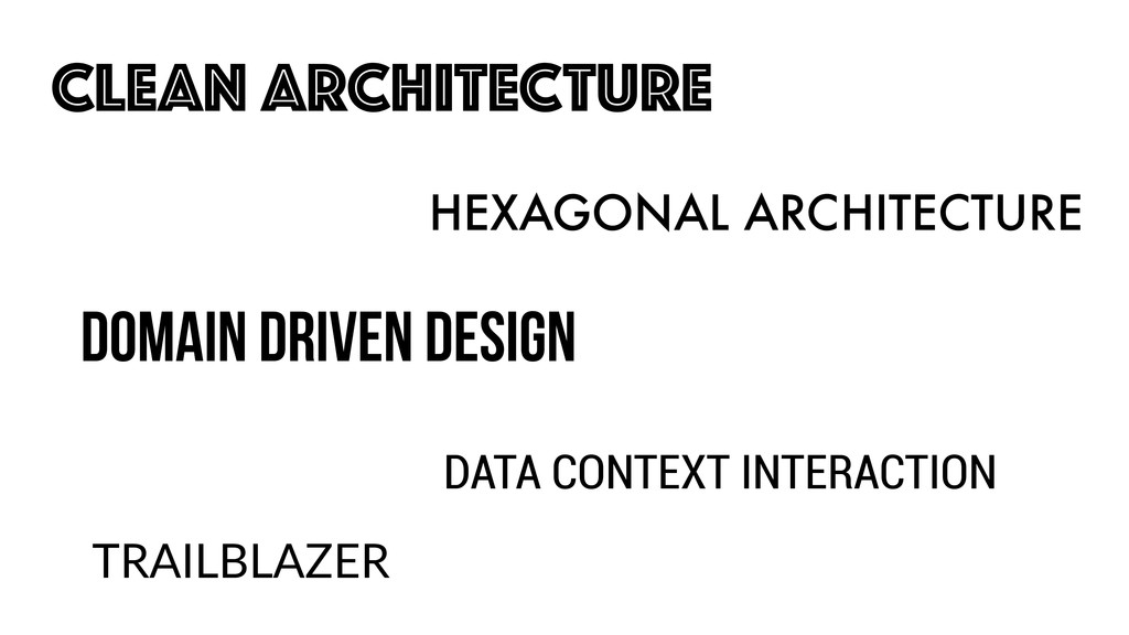 CLEAN ARCHITECTURE HEXAGONAL ARCHITECTURE DOMAI...
