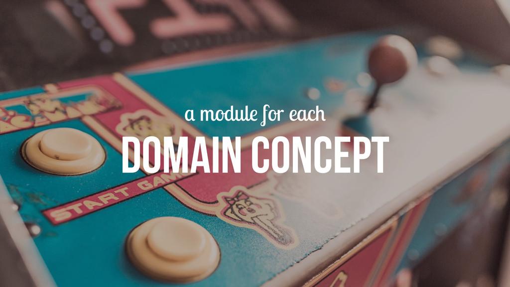 a module for each DOMAIN CONCEPT