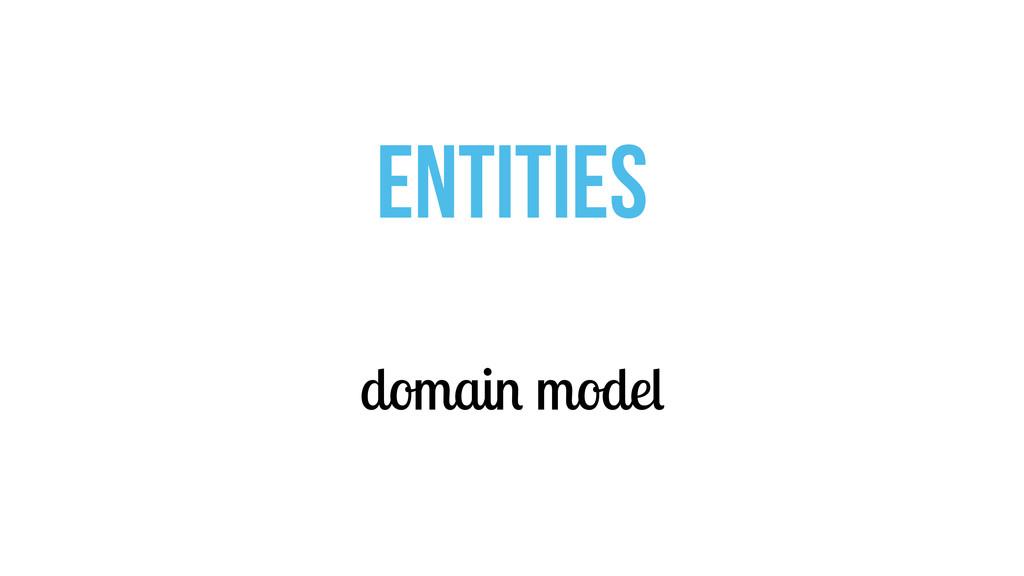 domain model ENTITIES