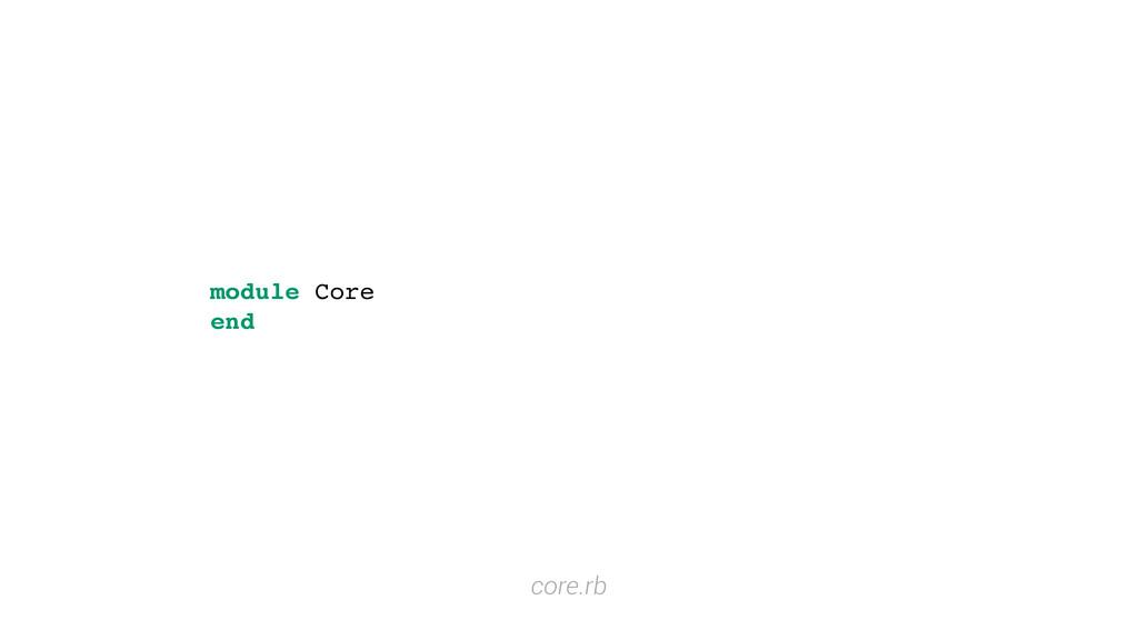 module Core end core.rb