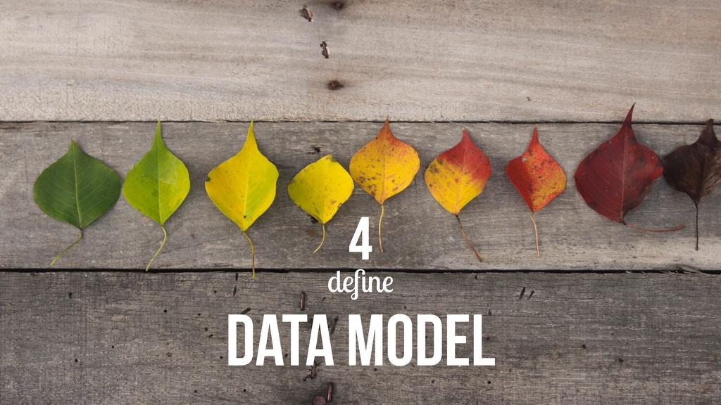 define DATA MODEL 4