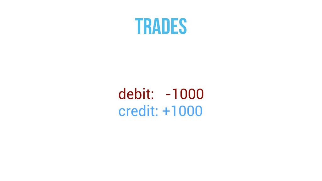 trades debit: -1000 credit: +1000
