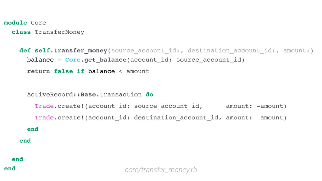 module Core class TransferMoney def self.transf...