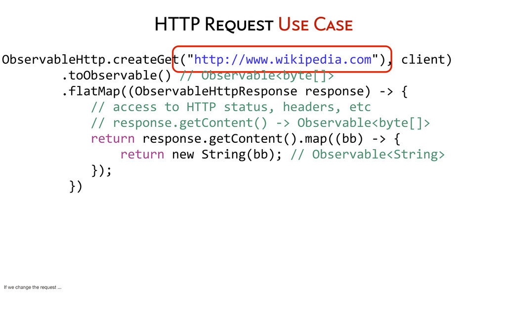HTTP Request Use Case ObservableHttp.createGet(...