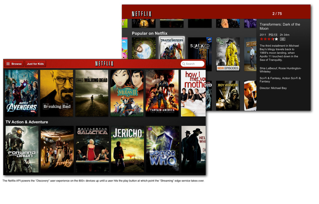 """The Netflix API powers the """"Discovery"""" user expe..."""