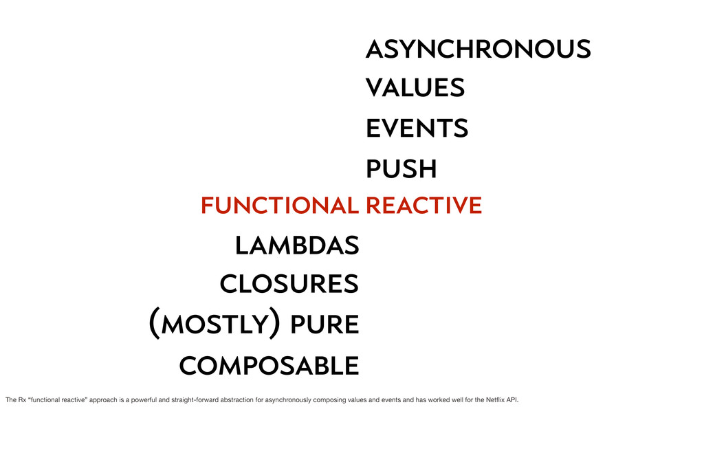functional lambdas closures (mostly) pure compo...