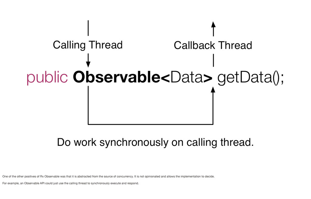 One of the other positives of Rx Observable was...