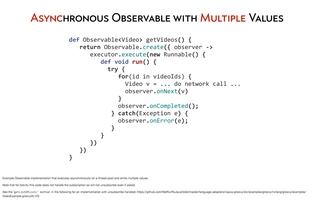 Asynchronous Observable with Multiple Values ...
