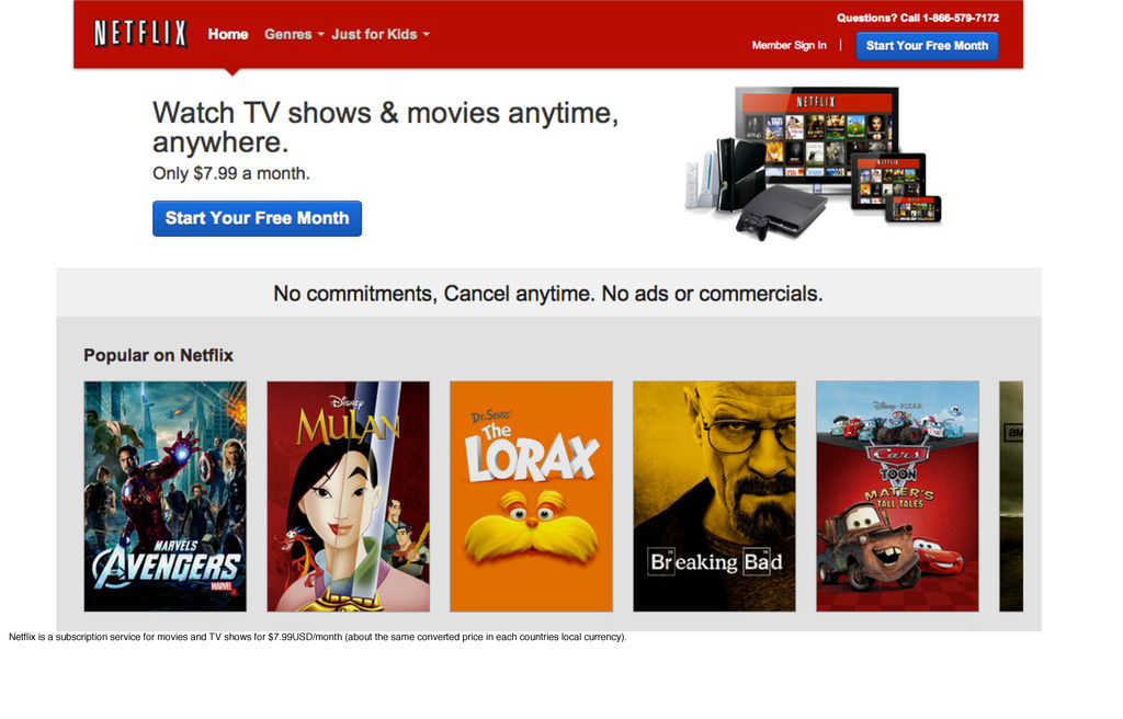Netflix is a subscription service for movies and...