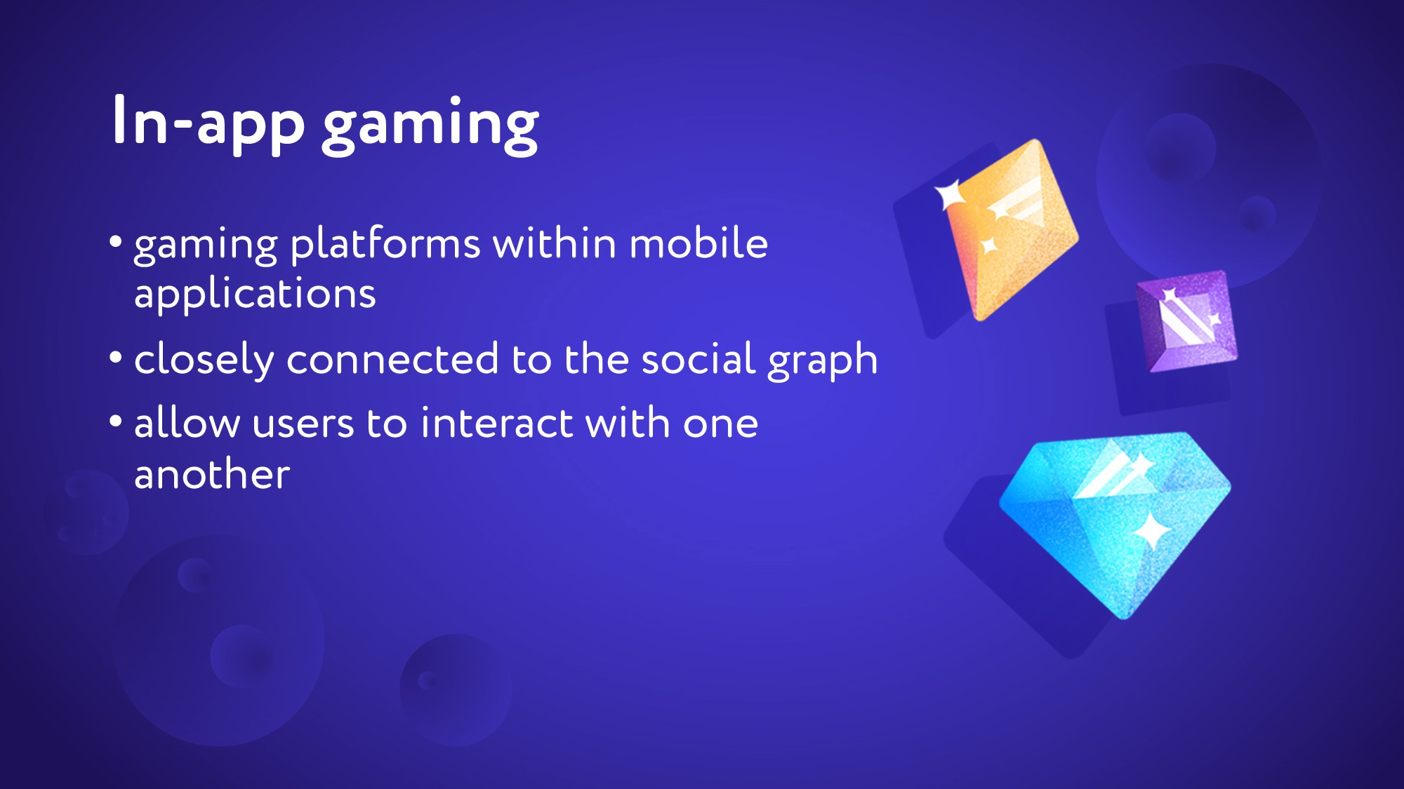 In-app gaming • gaming platforms within mobile ...