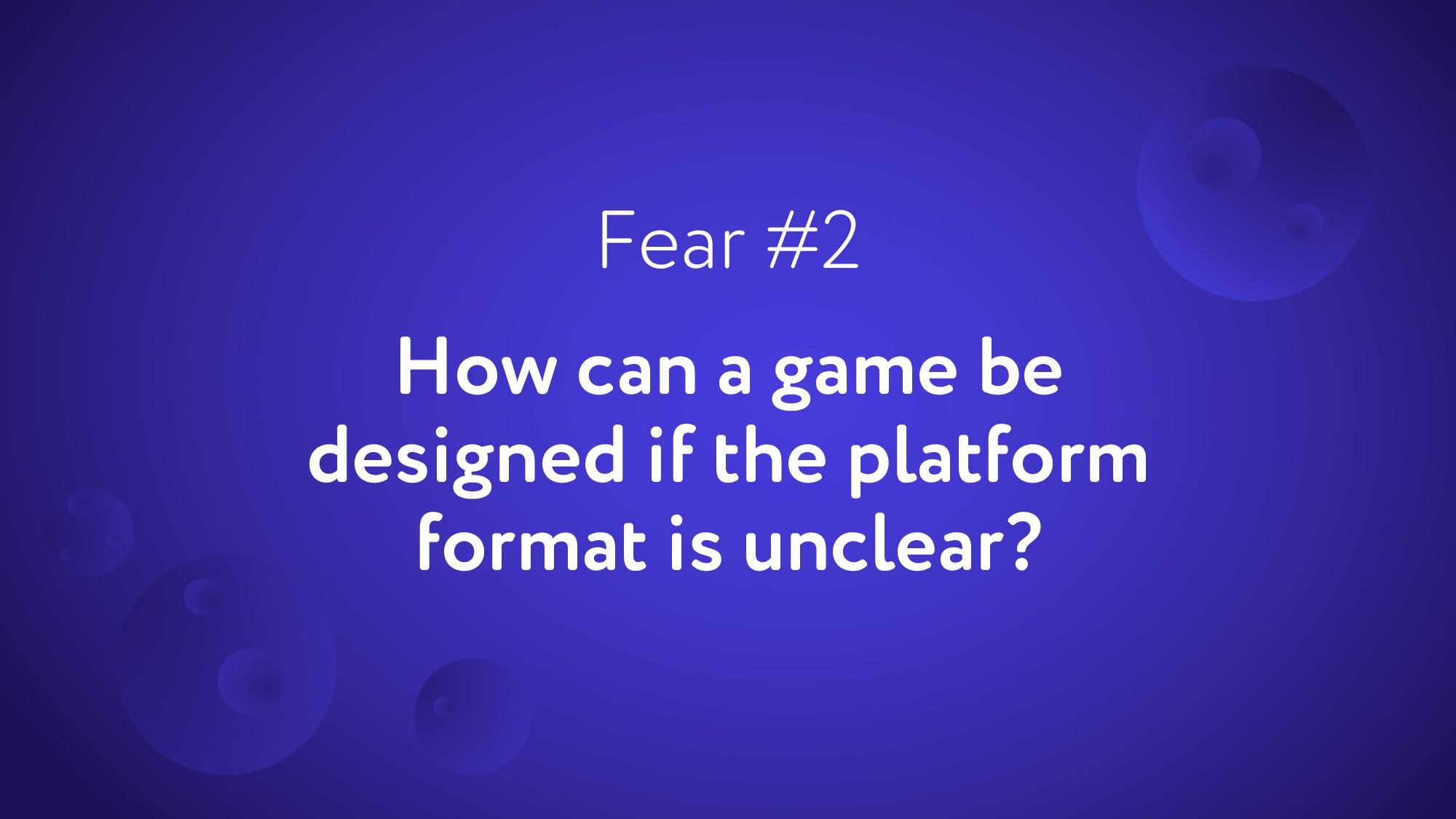 How can a game be designed if the platform form...