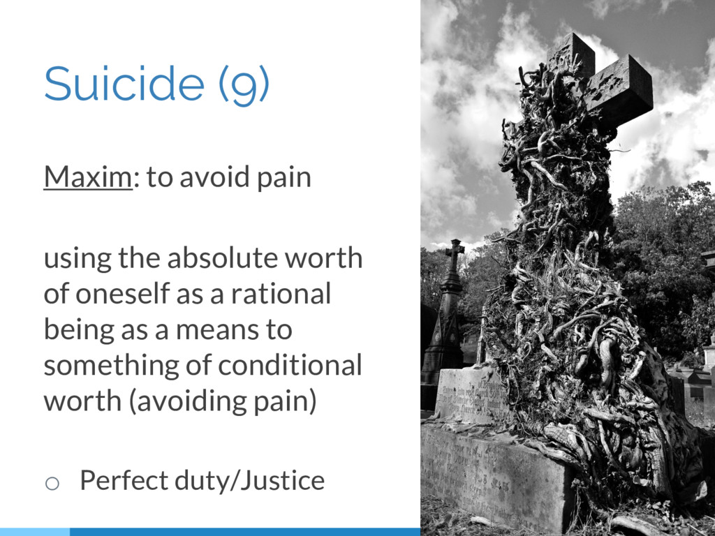 Suicide (9) Maxim: to avoid pain using the abso...