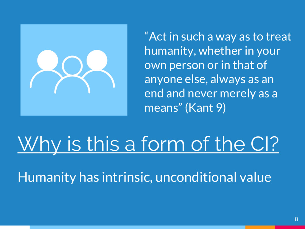 8 Why is this a form of the CI? Humanity has in...