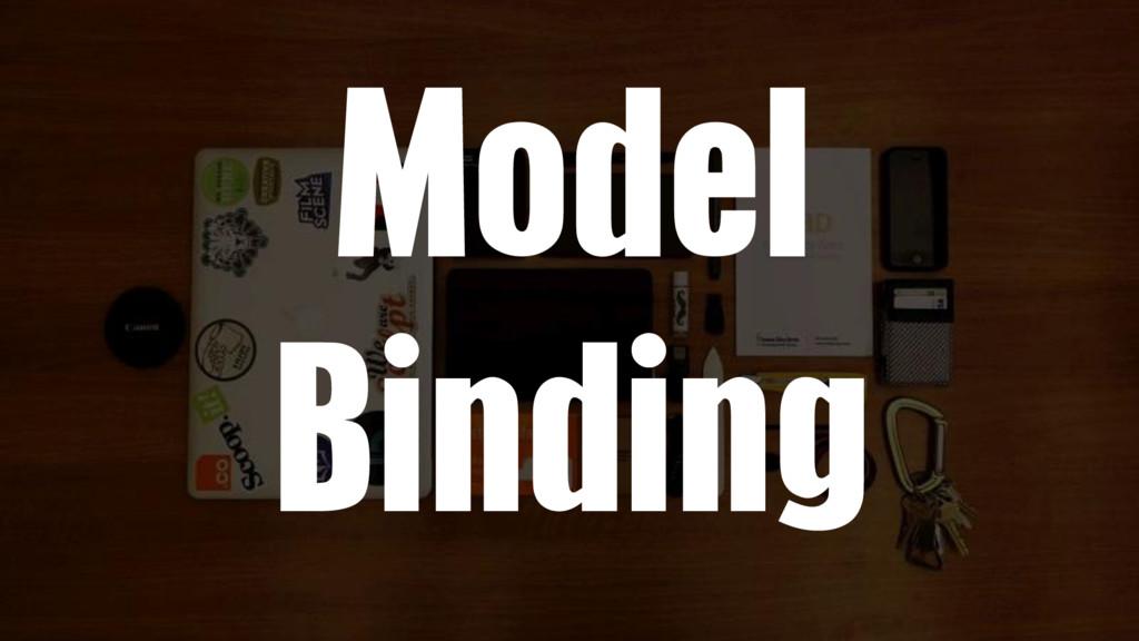 Model Binding