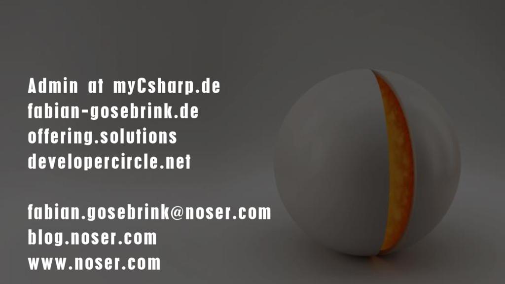 Admin at myCsharp.de fabian-gosebrink.de offeri...