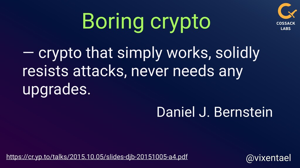 iOS specifics @vixentael OpenSSL Soter Themis Th...