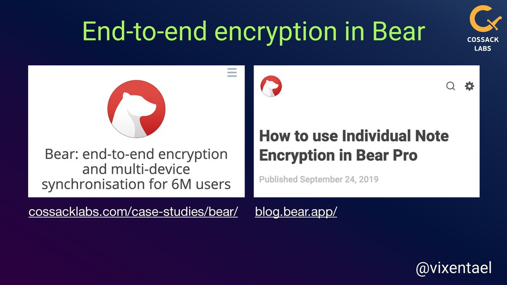 End-to-end encryption in Bear blog.bear.app/ co...