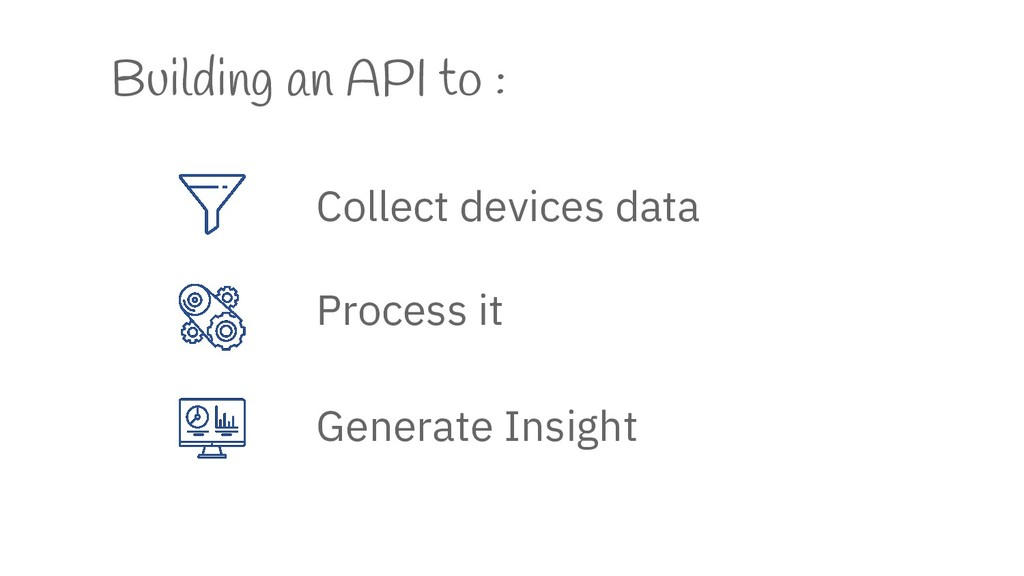 Building an API to : Collect devices data Proce...