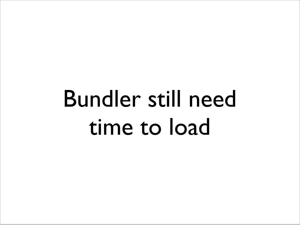 Bundler still need time to load