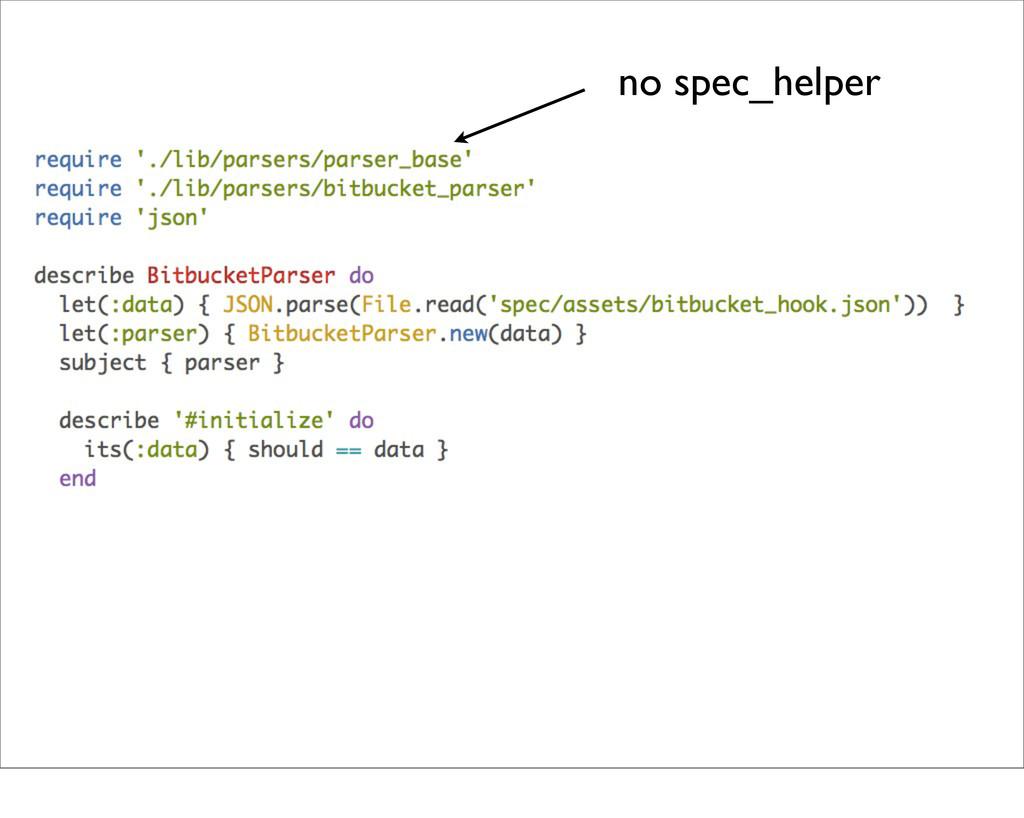 no spec_helper