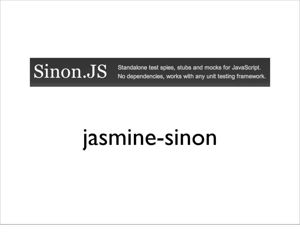 jasmine-sinon