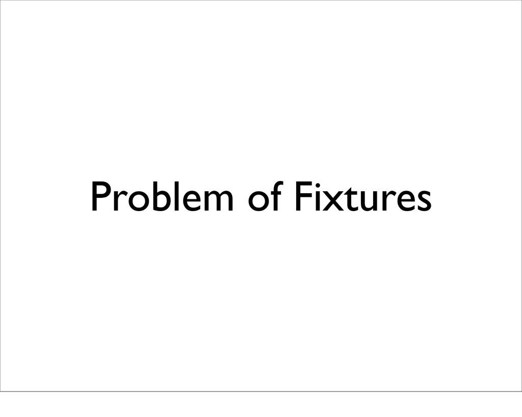 Problem of Fixtures