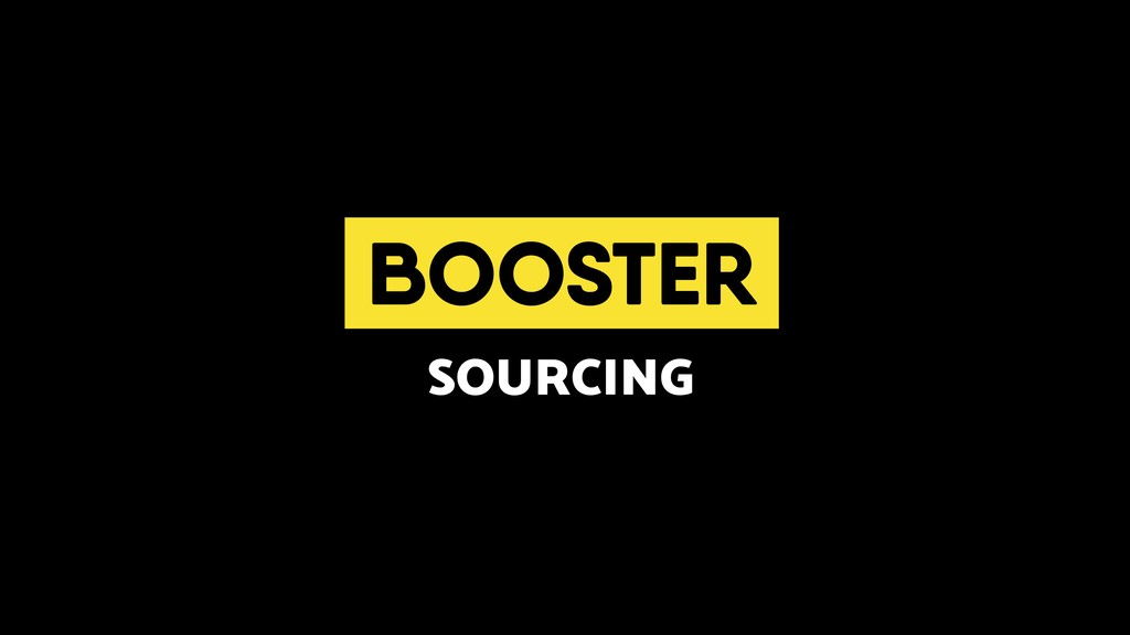 BOOSTER SOURCING