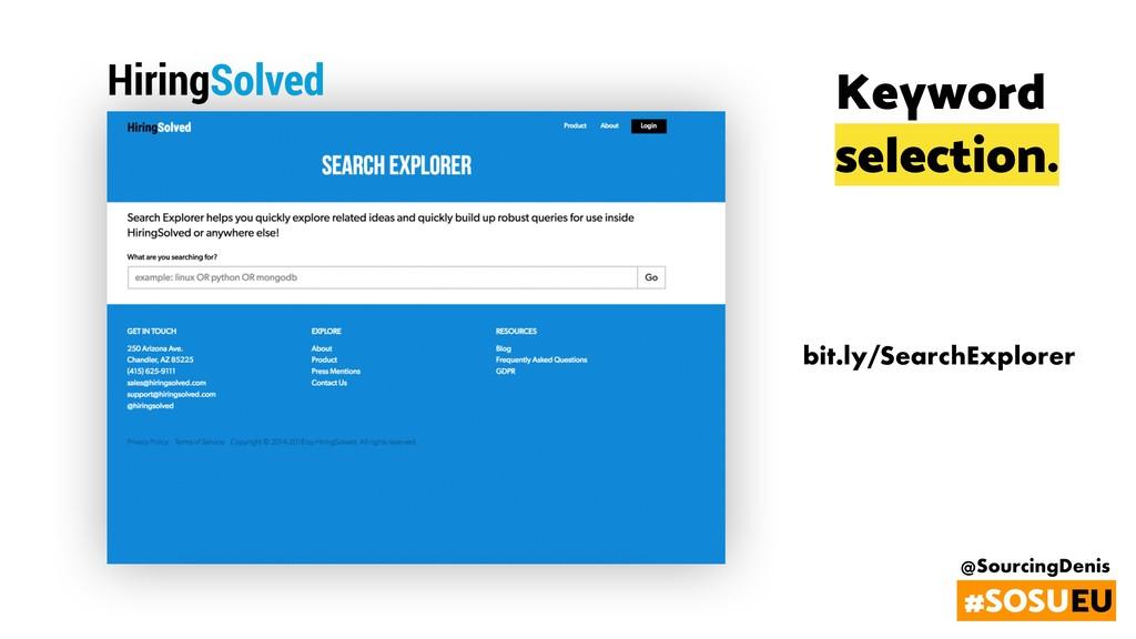 @SourcingDenis #SOSUEU bit.ly/SearchExplorer Ke...