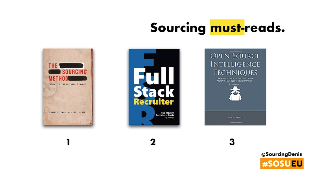 @SourcingDenis #SOSUEU Sourcing must-reads. 1 2...