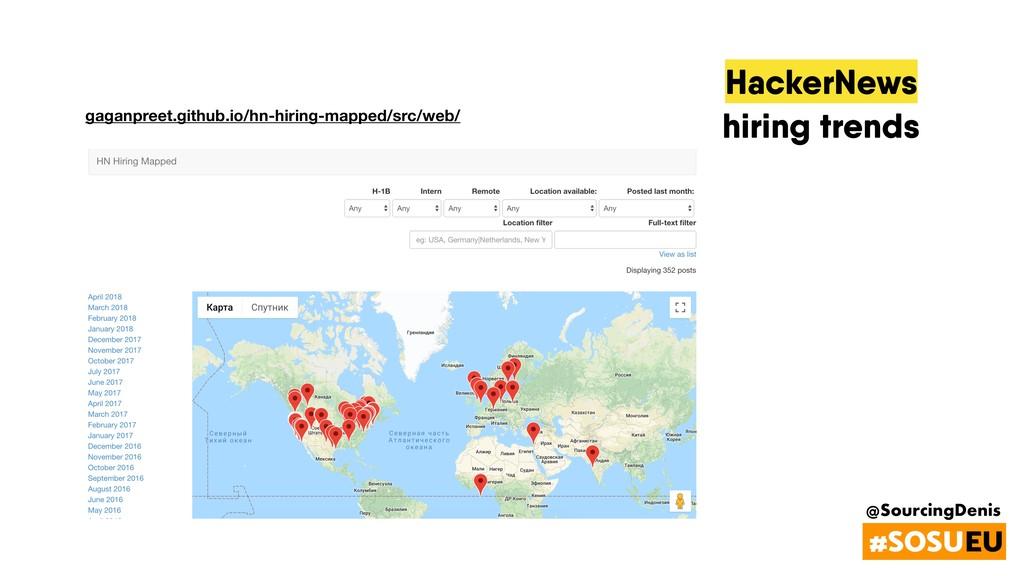 @SourcingDenis #SOSUEU HackerNews hiring trends...