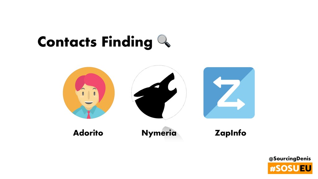@SourcingDenis #SOSUEU Contacts Finding  Nymeri...