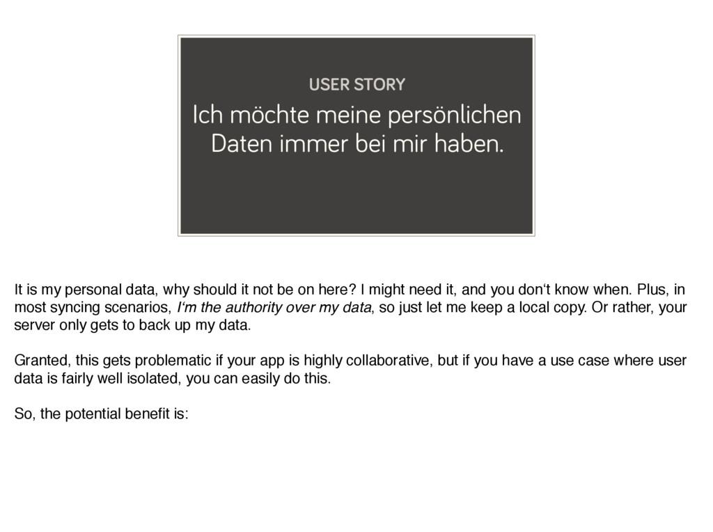 Ich möchte meine persönlichen Daten immer bei m...