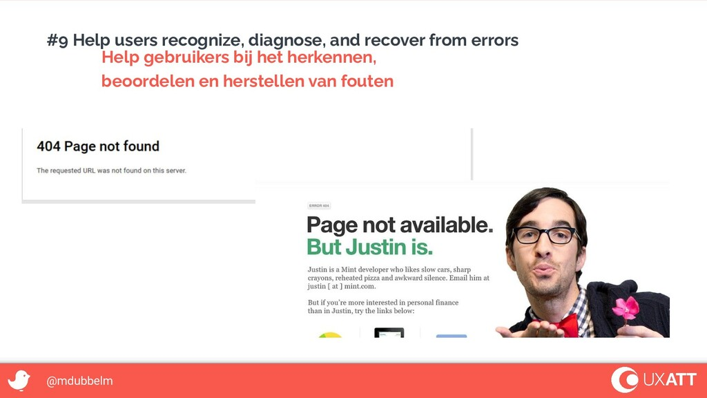@mdubbelm #9 Help users recognize, diagnose, an...