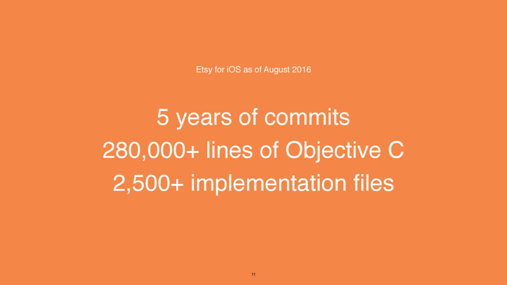 5 years of commits 280,000+ lines of Objective ...