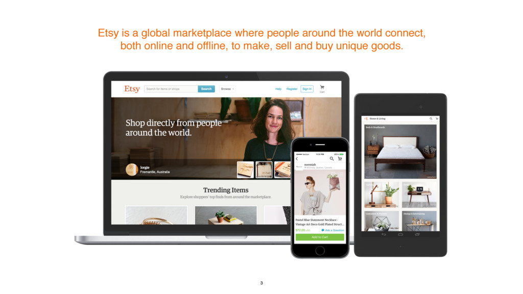 Etsy is a global marketplace where people aroun...