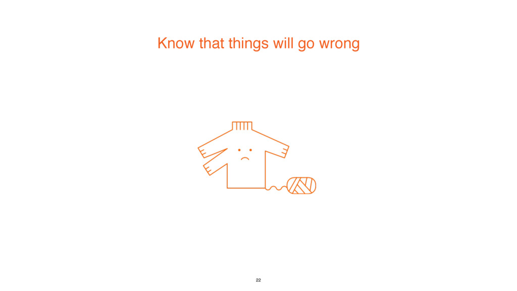Know that things will go wrong 22