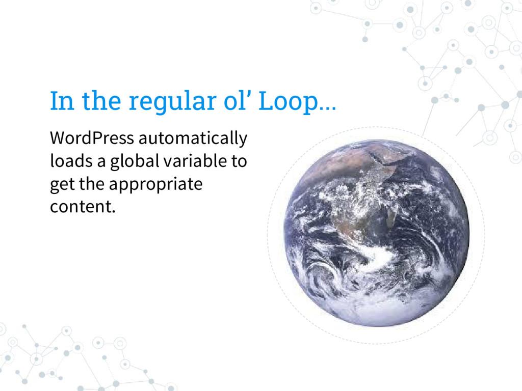 In the regular ol' Loop... WordPress automatica...