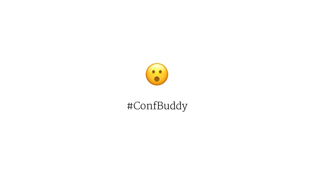 ! #ConfBuddy