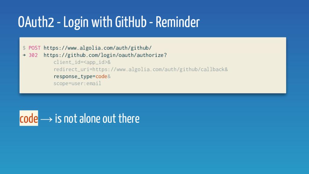 $ POST https://www.algolia.com/auth/github/ → 3...