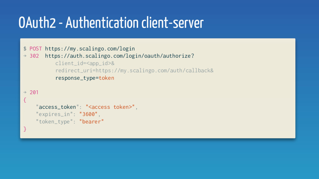 OAuth2 - Authentication client-server $ POST ht...