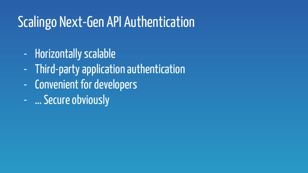 Scalingo Next-Gen API Authentication - Horizont...